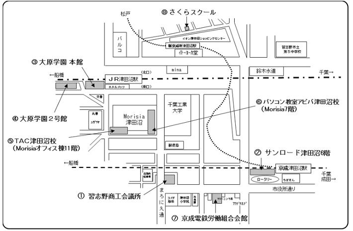 試験会場(案内図)